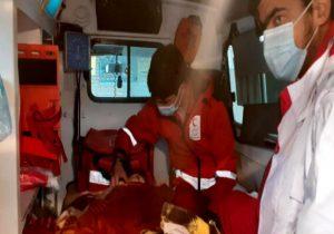 امدادرسانی عوامل هلال احمر به مصدومان ۲ حادثه در هراز و آبعلی