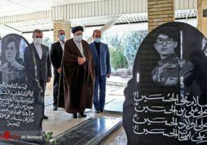 ادای احترام رییس قوه قضاییه به مقام شامخ شهدا در شهر دماوند