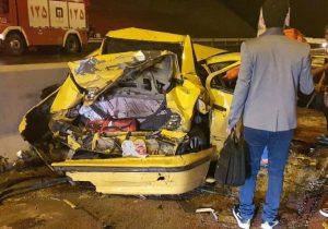 تصادف زنجیره ای در آزادراه تهران _ پردیس