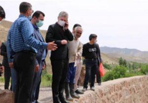 بازدید فرماندار شهرستان دماوند از وضعیت سد خاکی روستای زیارت